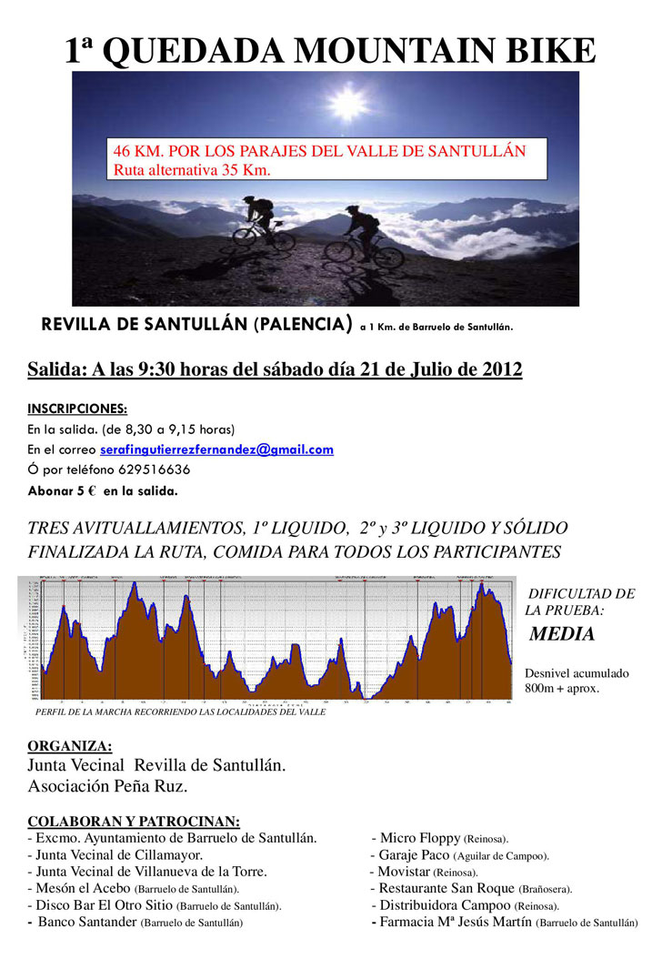 1ª Quedada Mountain Bike (21 Julio)